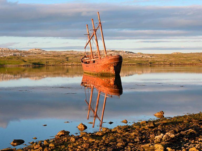 Photo of Lady Elizabeth shipwreck © 2020 Sue Luxton | Falklands Maritime Heritage Trust (FMHT)